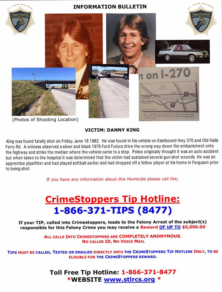 danny king - crime stoppers flyer